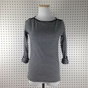 Jones New York Signature Striped Blouse Shirt Top